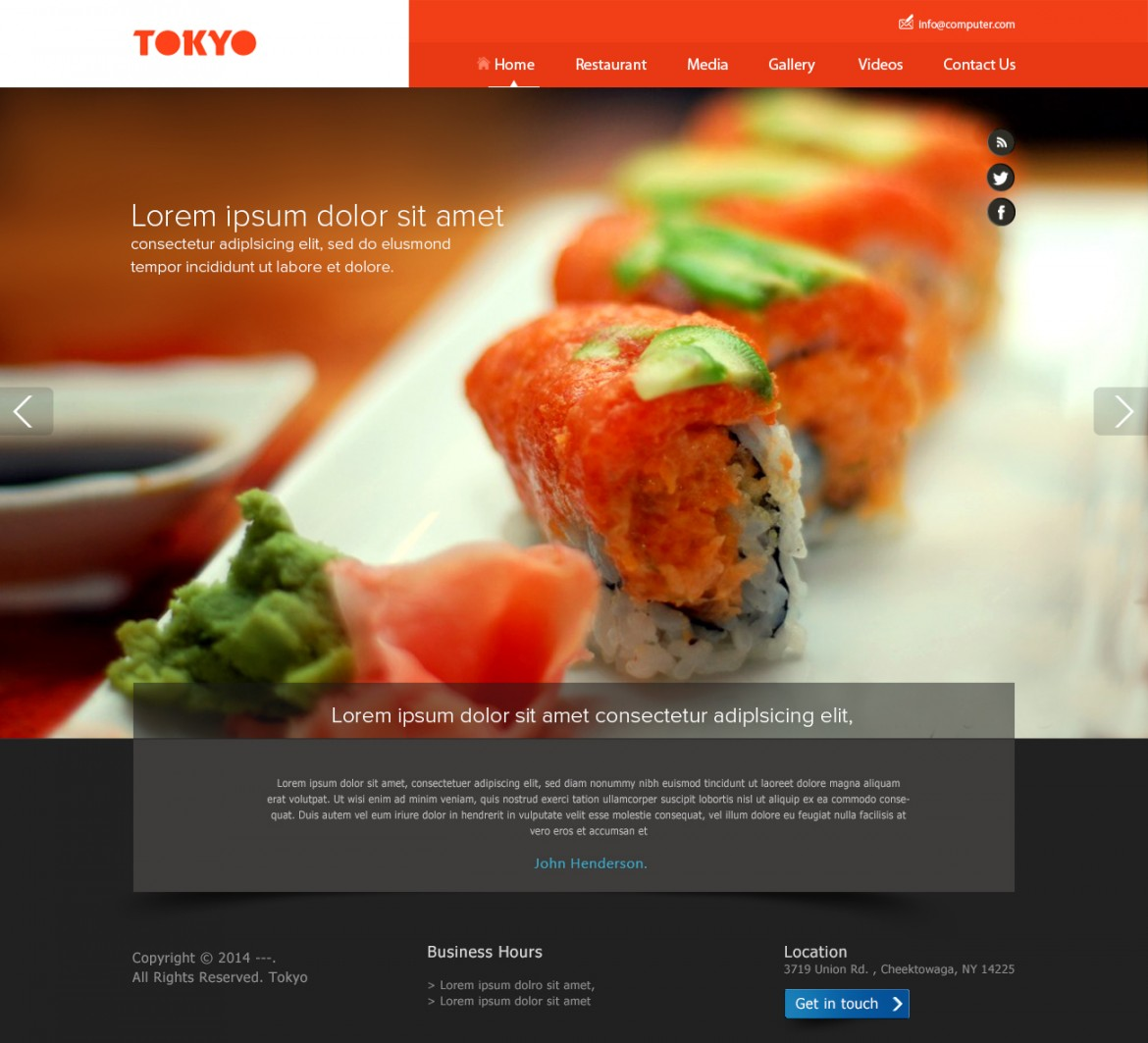 Service Website PSD Design